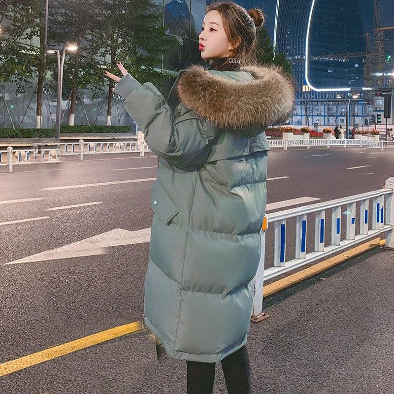 Женское зимнее пальто с большим меховым воротником, новинка 2020, свободная верхняя одежда, куртки оверсайз, водонепроницаемые толстые теплы...