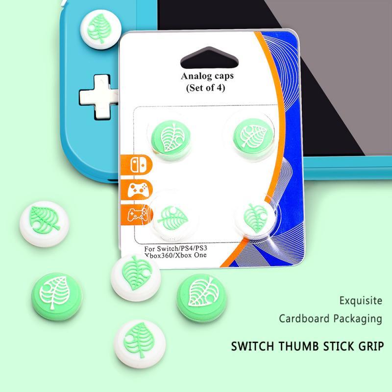 4 sztuk/zestaw silikonowy uchwyt na kciuki Cap dla Nintendo przełącznik/przełącznik Lite/ PS3/ PS4/ Xbox One/ Xbox 360 Thumbstick Joystick pokrywa