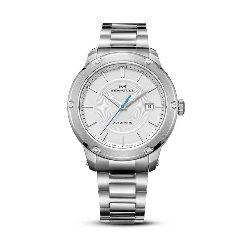 ساعة آلية للرجال من Seagull ساعة ميكانيكية للرجال موضة ساعة رجال أعمال 2021 مقاومة للماء ساعة 816.12.1021