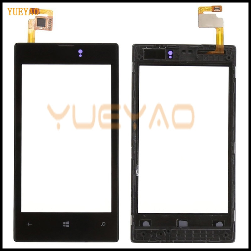 Panel frontal y Digitalizador de pantalla táctil OEM para Nokia Lumia 520 525, reemplazo de la pantalla LCD táctil con marco