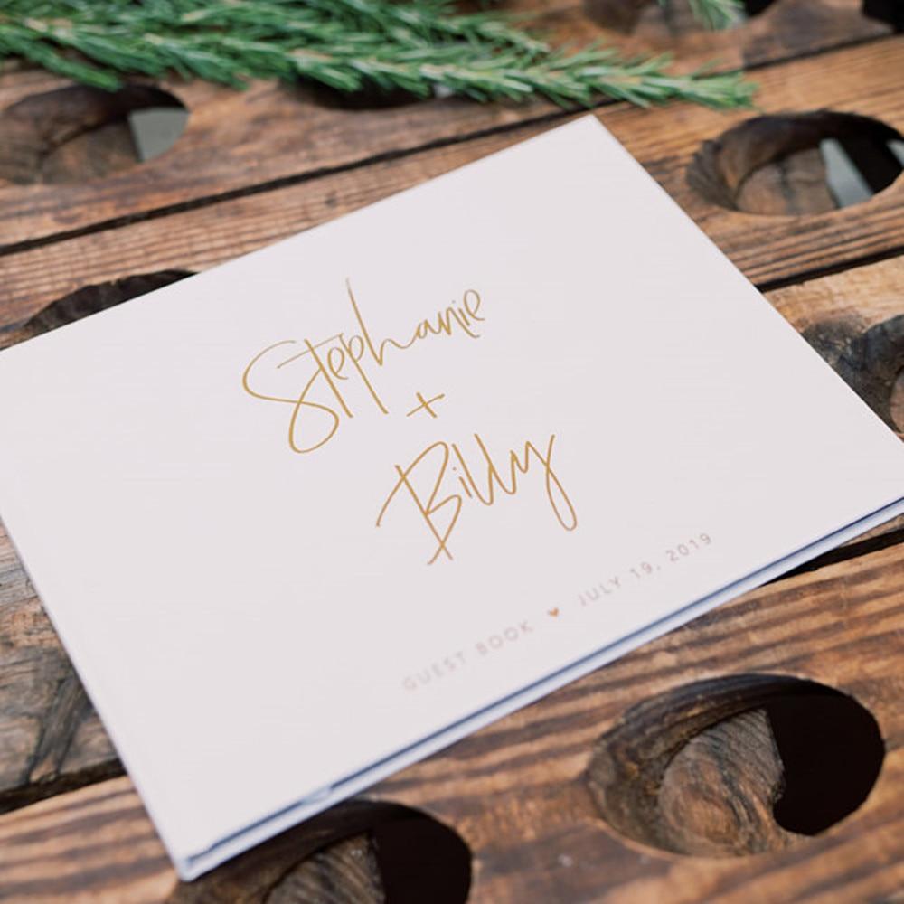 Livro de visitas do casamento do livro de visitas do casamento do monograma personalizado festa de noiva