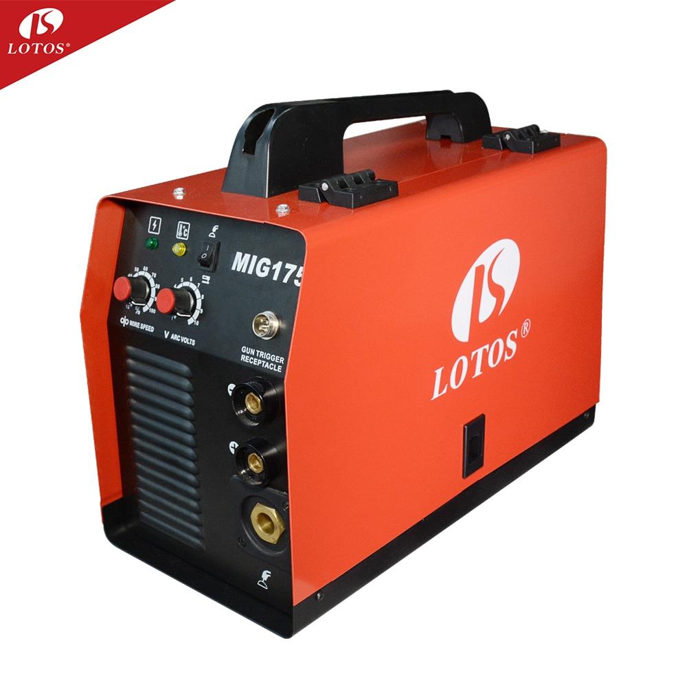 LOTOS MIG175 220 فولت العاكس نبض co2 الغاز ماج mig ماكينات لحام الألومنيوم معدات لحام سعر المصنع للبيع