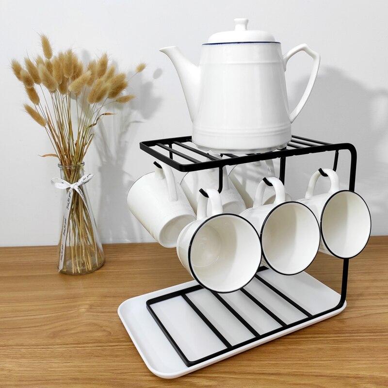 القهوة رف كأس متعددة الوظائف دولاب القدح حامل تجفيف الرف ل أكواب أطباق بالوعة المطبخ اكسسوارات