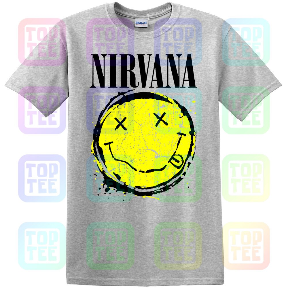 Oficial Splat Smiley Nirvana Banda T-Shirt