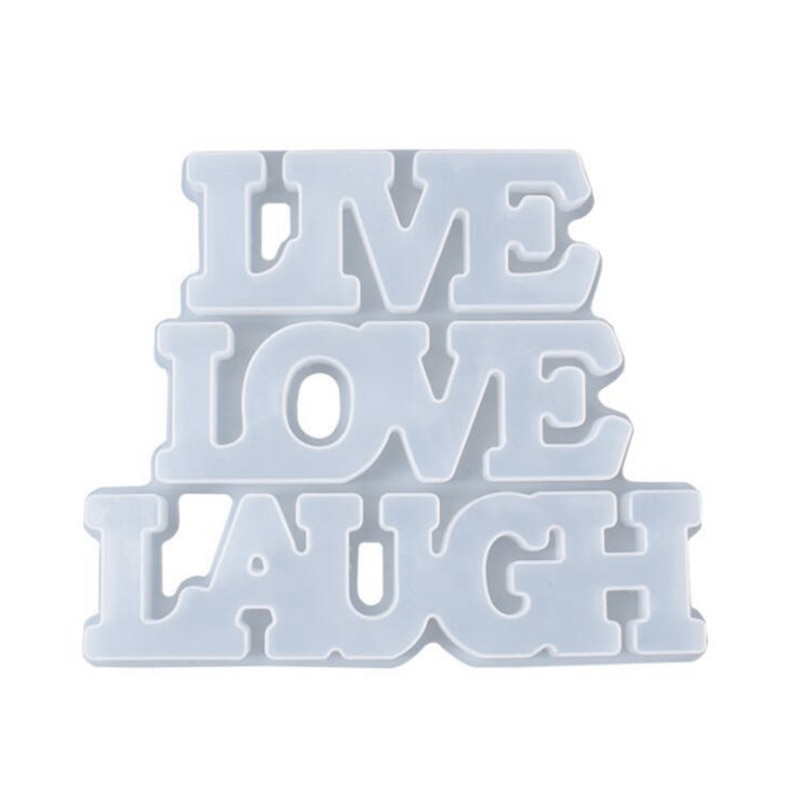 English Words Epoxy Resin Molds Room LIVE LOVE LAUGH Listed Pendant Hanging Ornament Silicone Mold DIY Crafts Decor Making Tool