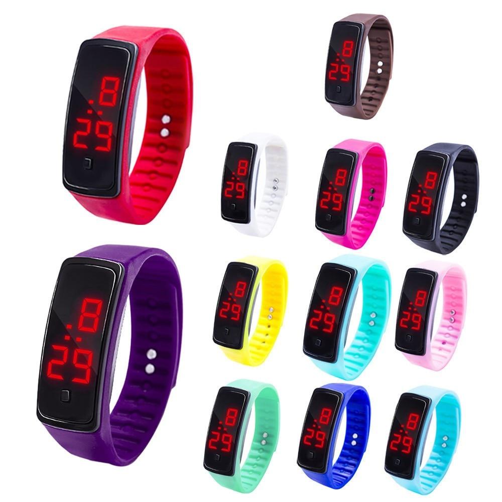 Fashion Kids Watch LED Digital Display Bracelet Watch Children Students Silica Gel Sports Watch Good