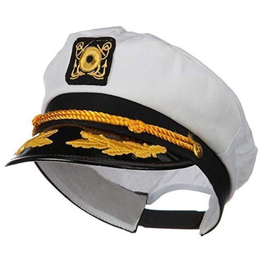 Взрослая яхта, военные шляпы, лодка, корабль, моряк, капитан, костюм, шляпа, Регулируемая Кепка, морской адмирал для мужчин, женщин, мужчин, ша...