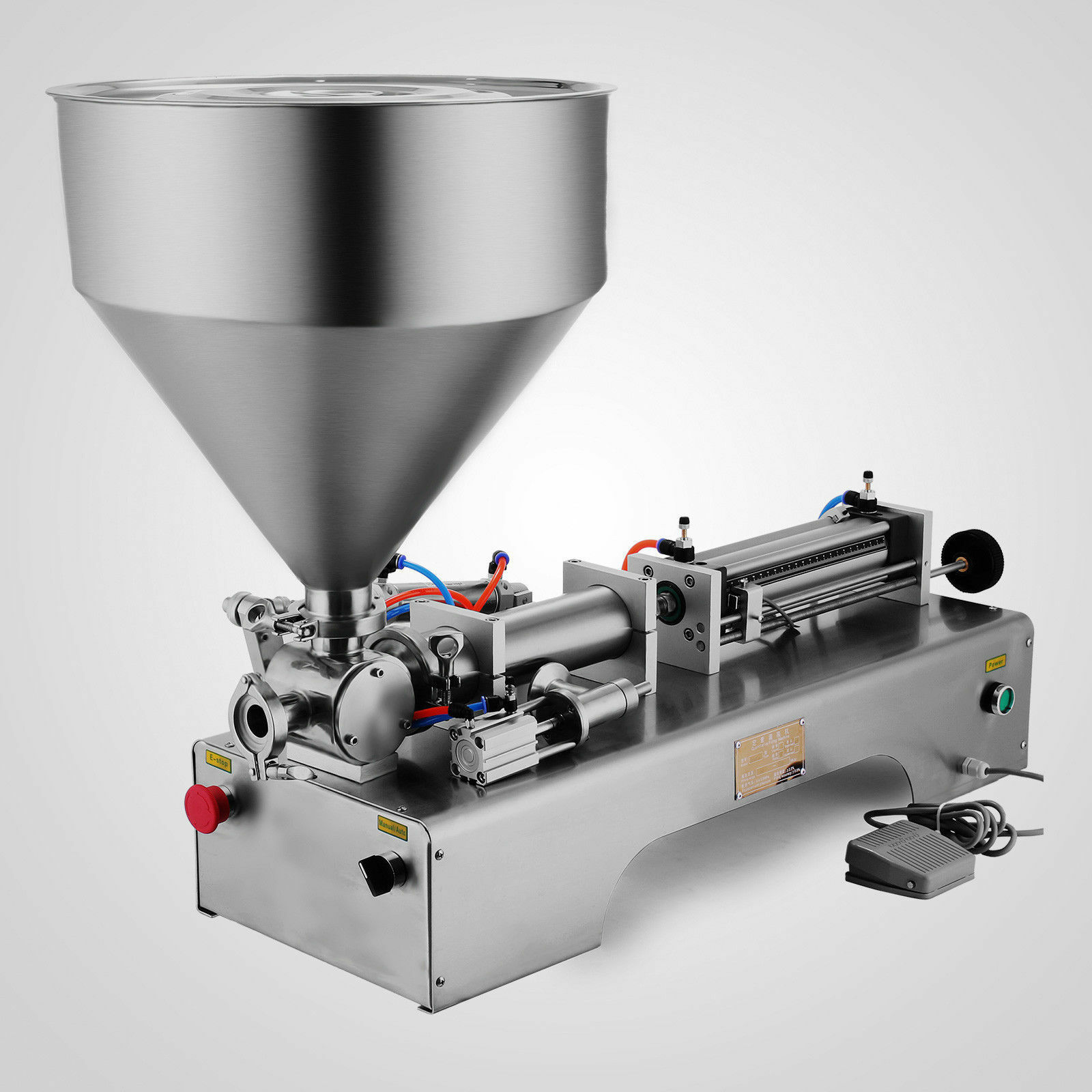 50-500 ml creme líquido pneumático da máquina de enchimento 304 inoxidável 25 garrafas/min apropriado para indústrias múltiplas