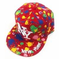 ny embroidery snapback flat hat letter new york hip hop hat outdoor casual women men visor cap color graffiti baseball cap cp164