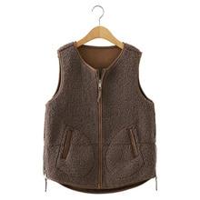Women Vests Solid Zipper Casual Vest Jackets 2020 Autumn Winter Sleeveless Korean Style Ladies Basic