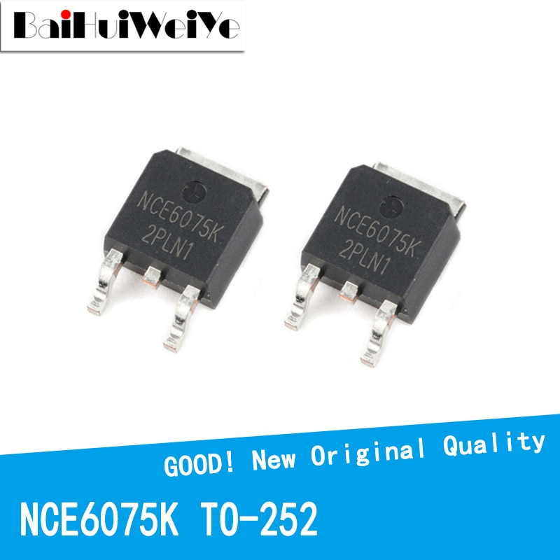 10PCS/LOT NCE6075K NCE6075 6075K 60V 75A TO-252 TO252 MOS FET New and Original IC Chipset MOSFET-N new original 30pcs lot 78m05 to252 7805 750ma