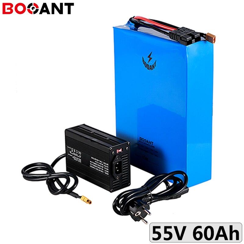 Batería de litio de bicicleta eléctrica 15S 55V 60AH para la batería de scooter eléctrica original LG 18650 cell 55V para el Motor de 3000W 5000W