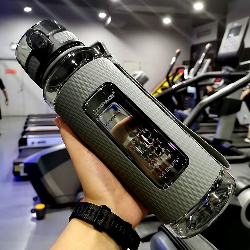 LISM-زجاجات مياه رياضية محمولة ، زجاجة رياضية ، مقاومة للسقوط ، سعة كبيرة ، غلاية لياقة بدنية ، خالية من مادة BPA