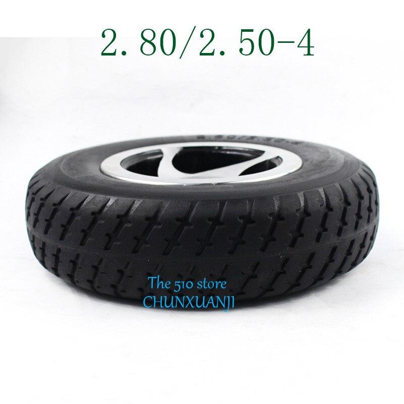 Neumático de alta calidad 2,80/2,50-4, rueda sólida de 9 pulgadas para Scooter Eléctrico, remolque y carro de mano/carro de utilidad