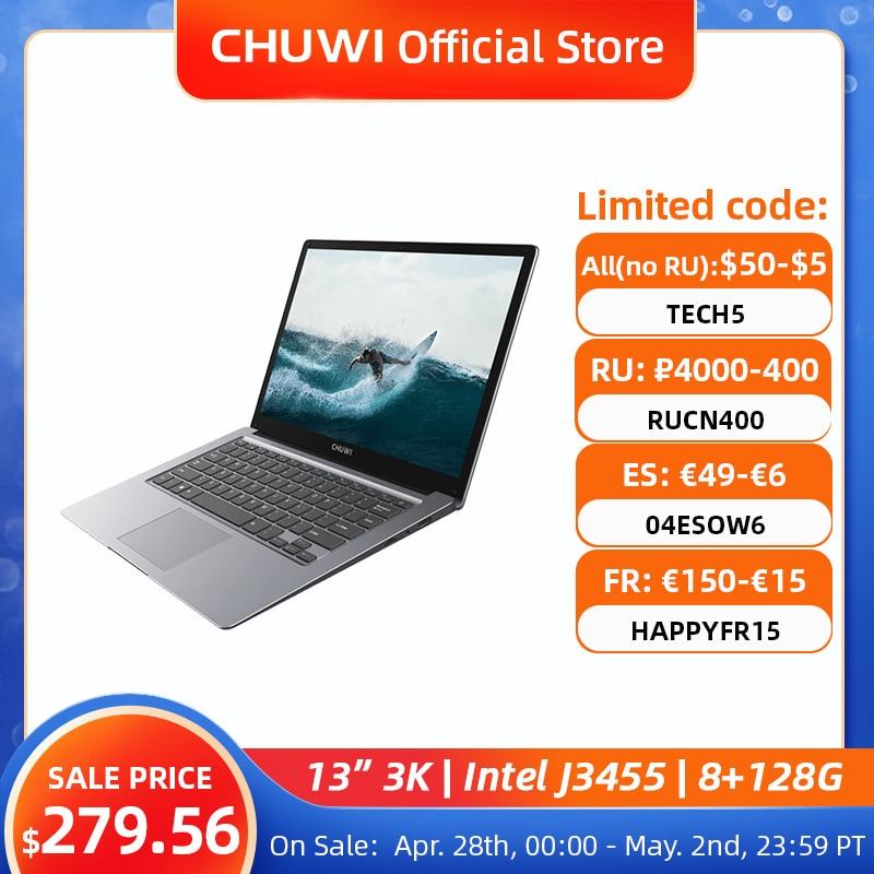 AliExpress - CHUWI HeroBook Pro+, 13.3 Inch, 3200*1800 Resolution, Intel Celeron J3455 Processor, LPDDR4 8GB, 128GB ROM, Windows 10, Laptop