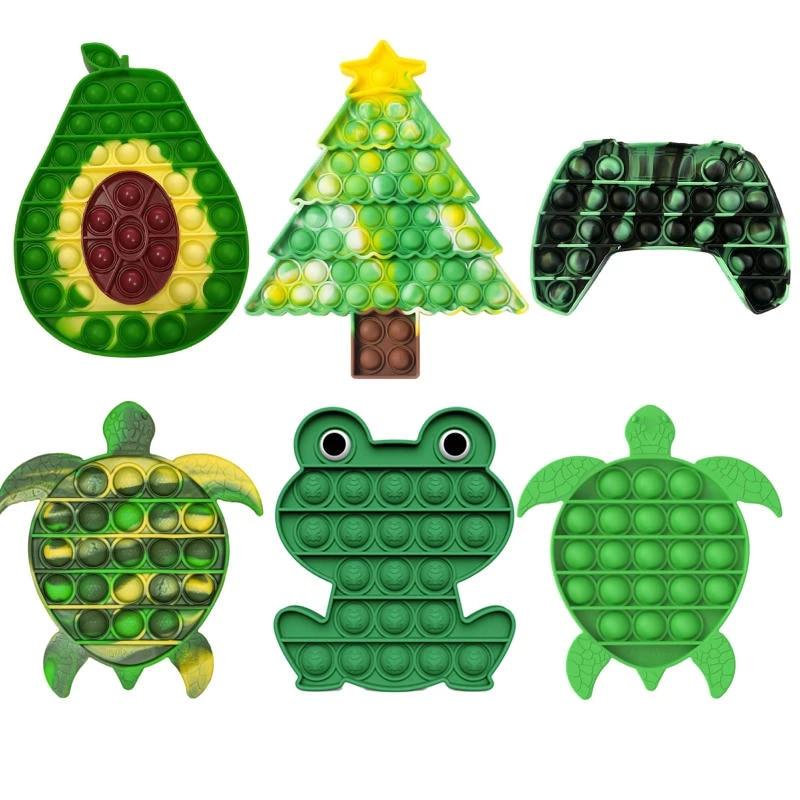 Игрушки-фиджеты для игр, радужная шахматная доска, пузырьковый Поппер, сенсорные игрушки, игрушки для родителей и детей, интерактивная игра ...