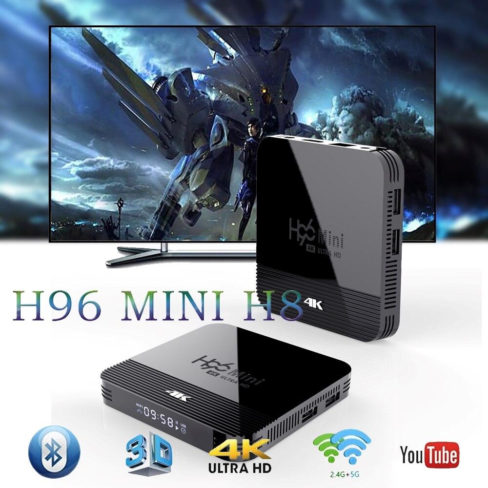 Mini 2GB de RAM 16GB ROM 4K TV inteligente reproductor de medios Android 9,0 caja de TV H96 Mini Allwinner H8 QuadCore Wifi 32G H96Mini PK X96 mini