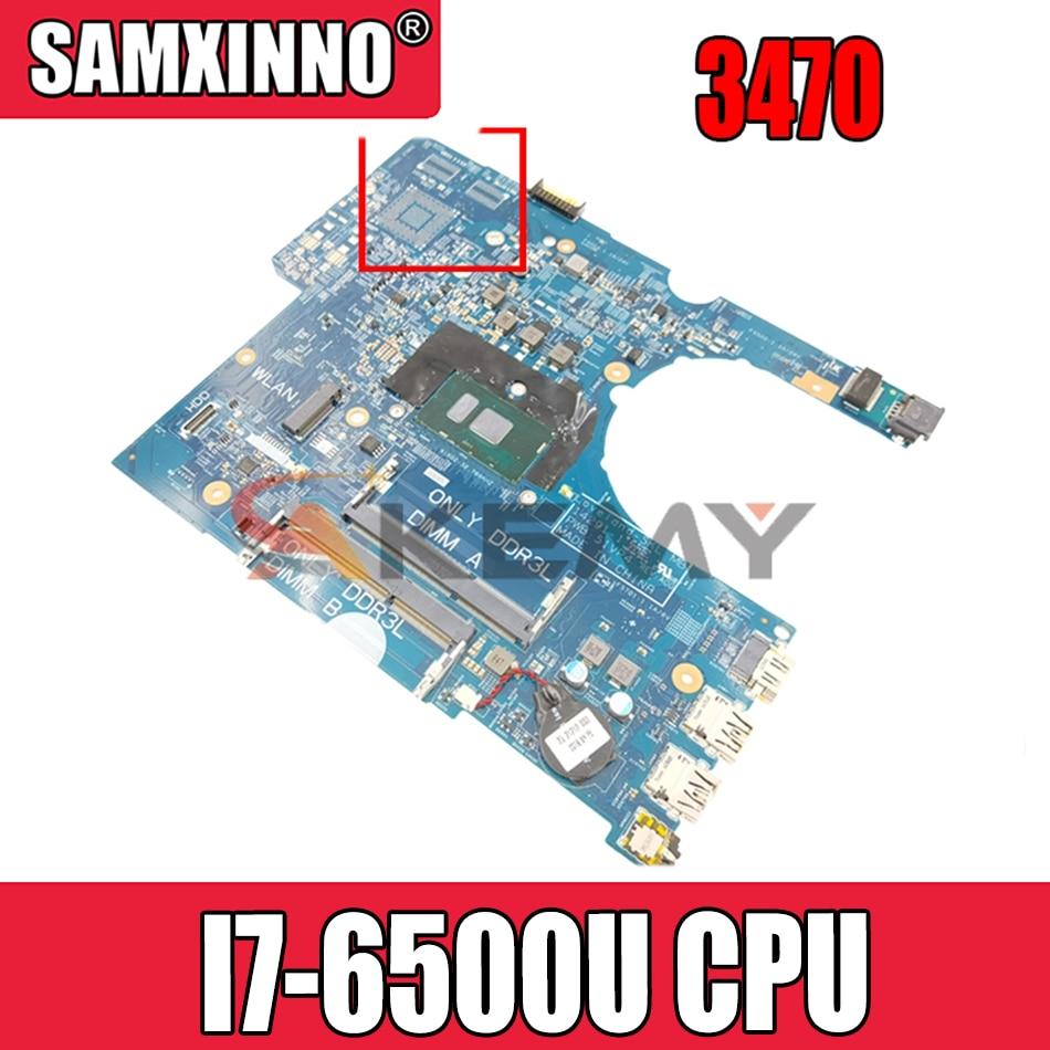 Akemy 14291-SC 448.06105.00SC CN-601D27 601D27SC لأجهزة الكمبيوتر المحمول DELL Inspiron 17 3470 اللوحة الأم I7-6500U وحدة المعالجة المركزية
