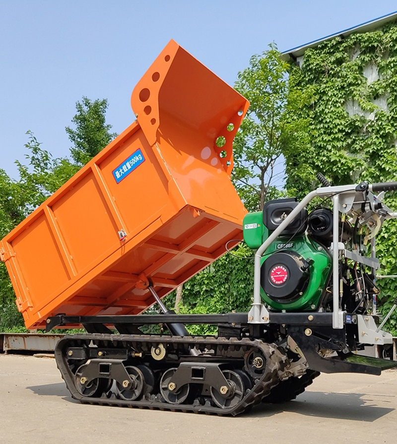 10hp gasoline Crawler transport truck self-unload mountain climb construction site trees orchard loader agriculture vehicle enlarge