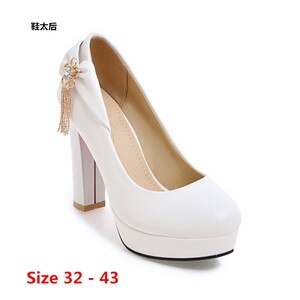 Shoes Woman Pumps Wedding Party Shoes Platform Dress Women Shoes High Heels Ladies Shoes Small Big Size 32 - 43