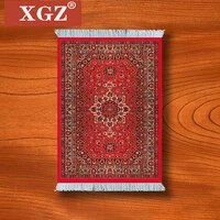 xgz large mouse pad persian carpet laptop gaming pc mechanical keyboard mousepad edge white tassel rubber table mat for pet
