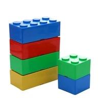 building blocks storage box desktop space saving makeup cosmetic box office storage organizer superimposed jewelry sundries pen