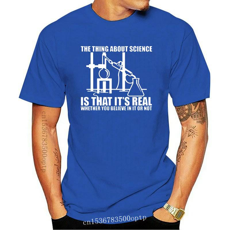 New True Science Believe Chemistry Experiment Printing T Shirts For Men Male Atheist Summer Fashion Casual Loose Fit Cotton T-Sh
