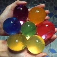 Hydrogel de boue de sol en cristal pour enfants  7 a 8 pieces lot  perles deau  jouet pour enfants  decoration de maison  de mariage