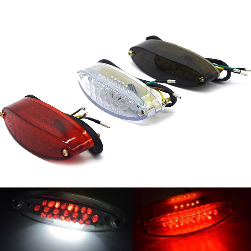 Alta calidad 1 ud. 28 LED Universal motocicleta bicicleta trasera parada trasera luz roja luz trasera luz de frenado