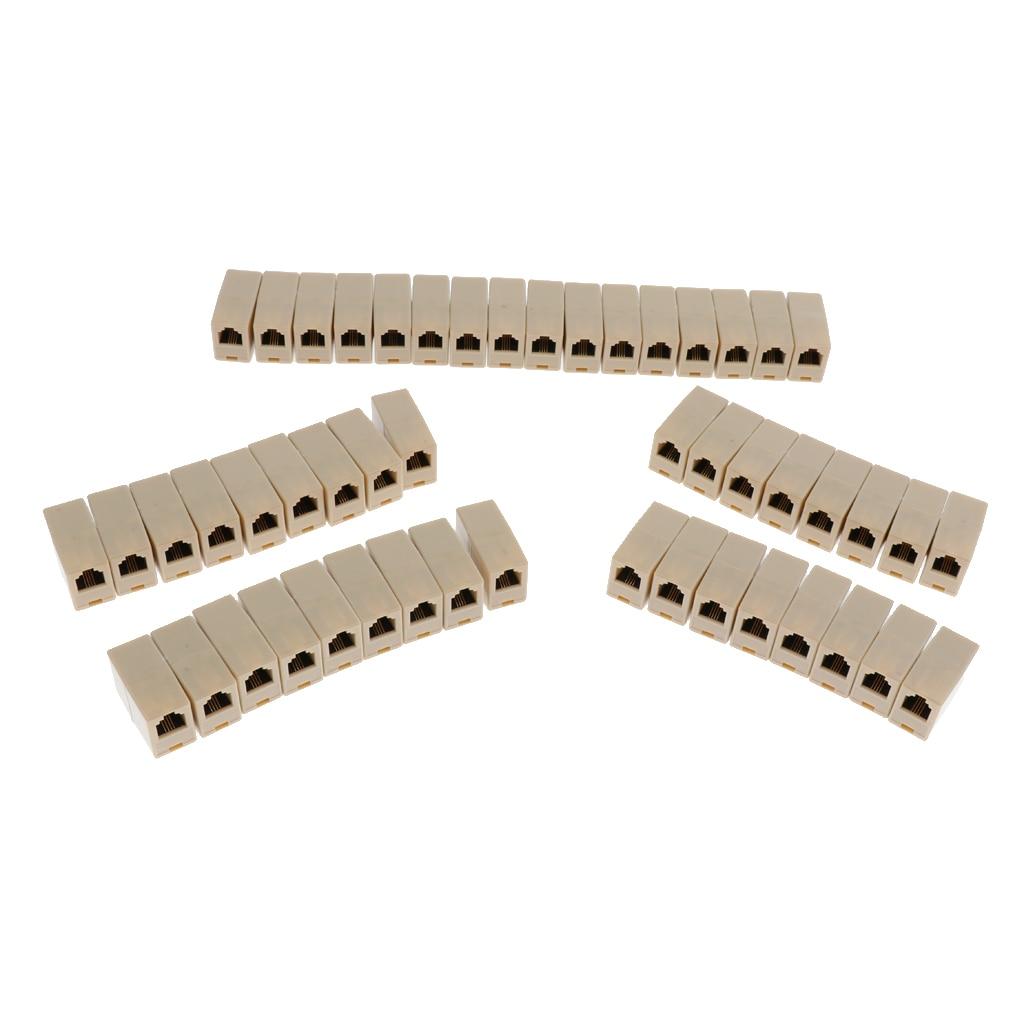 50 Pieces Adaptador de Conector Hembra Jack 6 Accesorios de Ordenador Herramienta Fácil de Usar