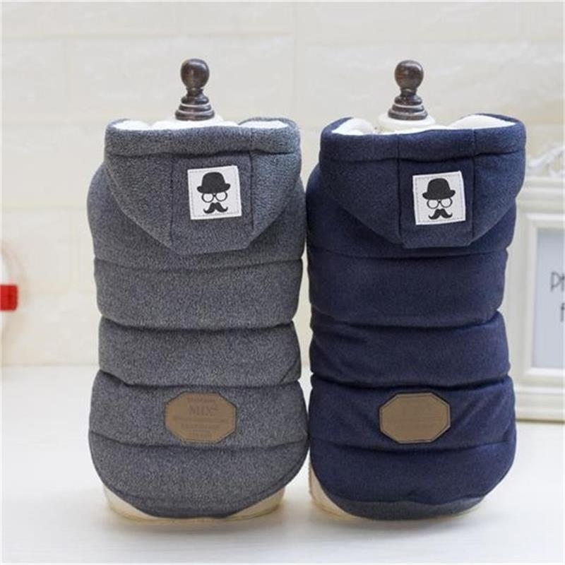 Ropa para perros de alta calidad ropa de algodón invierno chaqueta gruesa de abrigo disfraces sudaderas con capucha ropa para perros pequeños ropa para gatos