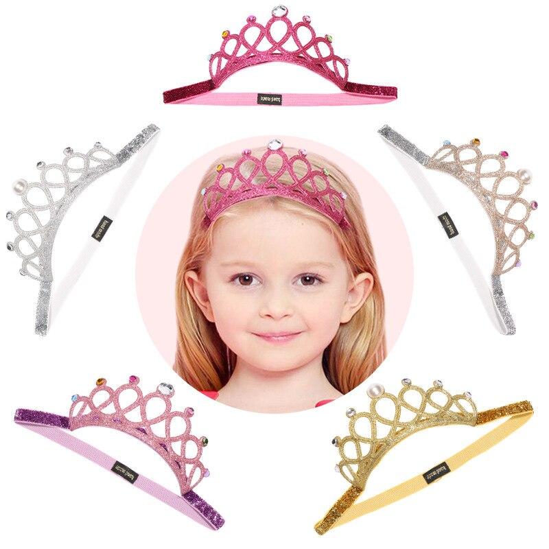 2020 nuevos accesorios para el pelo de bebé brillo de niña diadema de diamantes de imitación Tiaras barrocas de cristal y Diadema de CrownsWomen