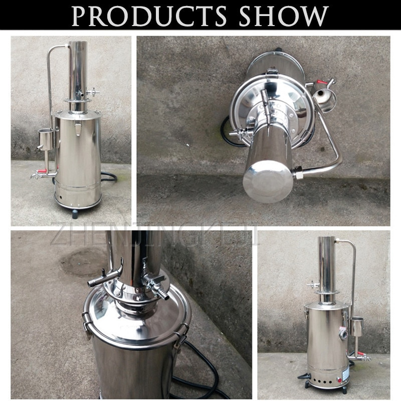 220V 5 Liters Stainless Steel Electro-thermal Distillation Water Device Laboratory Distillation Water Water Making Device 4.5KW enlarge