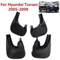 Car Mudflaps Splash Guards Mud Flap Mudguards Fender For Hyundai Tucson 2005 2006 2007 2008 2009