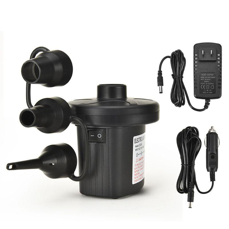 Bomba de aire de 12V CC para colchón de aire inflable eléctrico Intex, cama, sofá, piscina, pequeña bomba de aire doméstica
