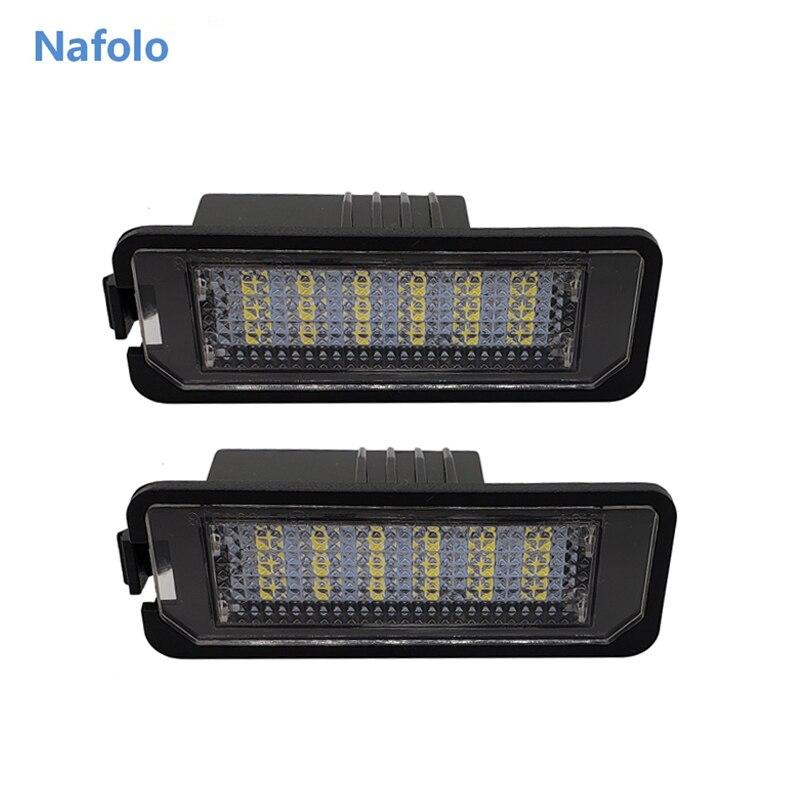 12V 3W 6000K LED Auto Anzahl License Platte Licht Schwanz Lampe Zubehör Für Passat B6 CC Lupo VW Golf 4 5 6 7 Polo 6R
