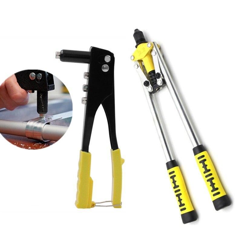 Rebitador de Mão Ferramenta de Mão Reparação de Calha Kit de Arma de Rebite de Pouco Profissional Peso Manual Rebite Ferramenta Resistente Cego-2.4-4.8mm