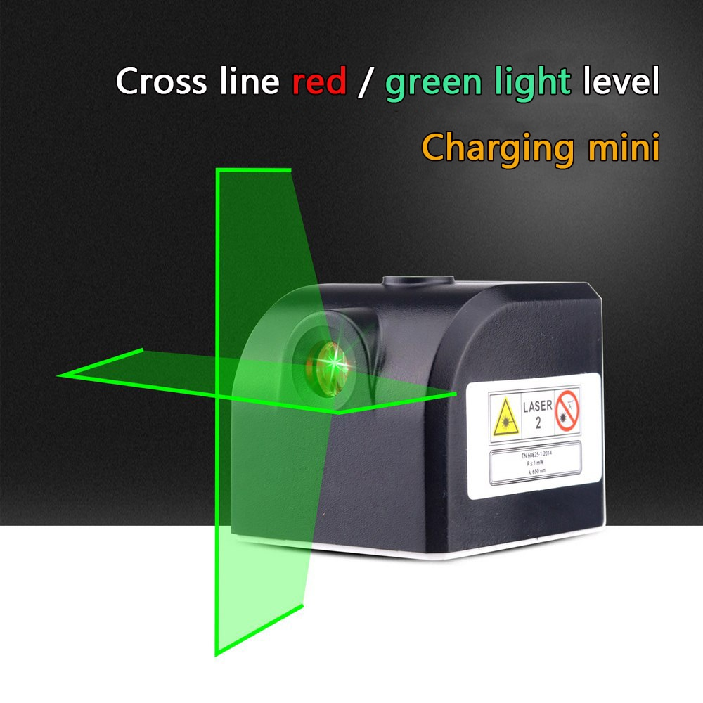 Faixa de Medição Nível de Alta Linhas Nível Laser Cruz Recarregável Auto-nivelamento Vertical & Horizontal Precisão 2 3d