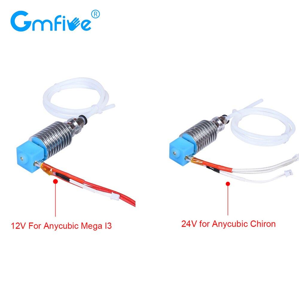 GmFive V5 J-la salida Hotend E3D Bowden extrusora 12V 24V piezas de mejora para Anycubic I3 Mega Chiron 3D piezas de la impresora del V6 salida Hotend