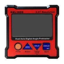 GTBL DXL360S numérique LCD rapporteur inclinomètre simple double axe boîte de niveau 0.01 degrés