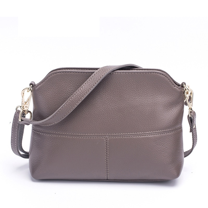 Fashion Ladies Genuine Leather Crossbody Bags Simple Leisure Shoulder Bag For Female Multi Function