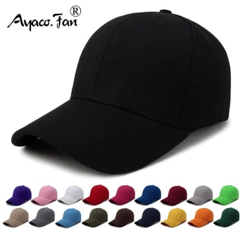 Solid Simple Baseball Cap Men Women Summer Cotton Sunhat Unisex Outdoor Sports Snapback Running Fishing Travelling Baseball Hat