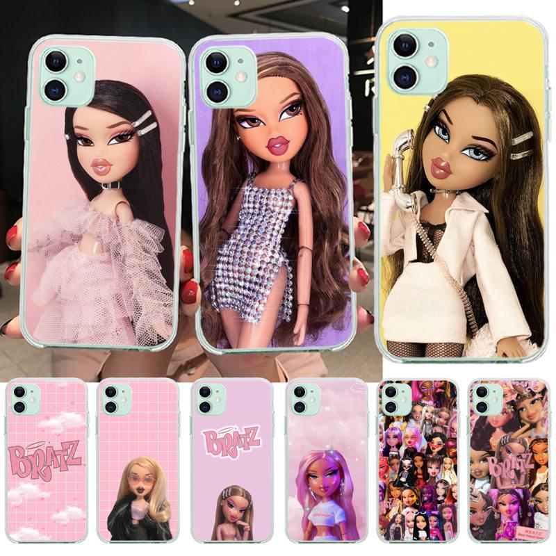 YJZFDYRM Puppe Bratz Gemalt Telefon Fall für iPhone 11 pro XS MAX 8 7 6 6S Plus X 5S SE 2020 XR abdeckung