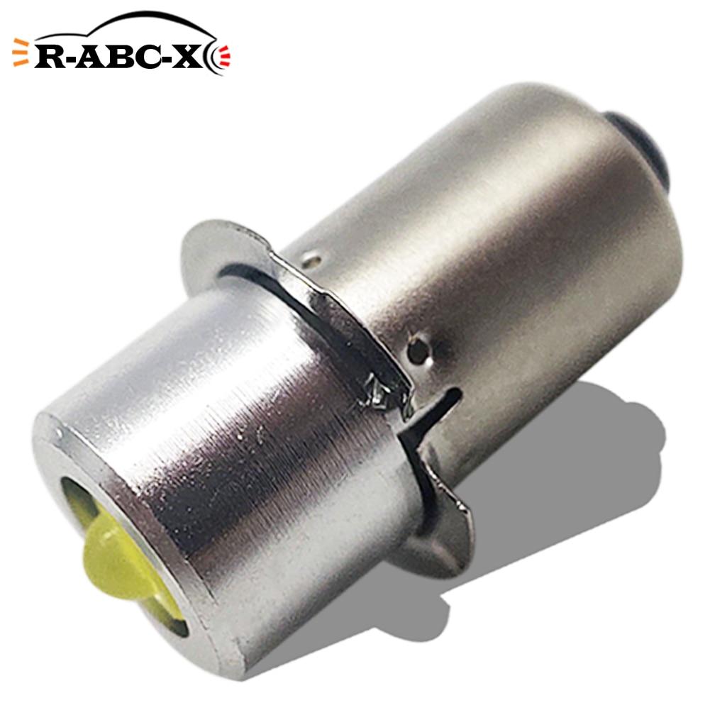 Ruiandsion 1x p13. 5S pr2 3w 150lm 6000k lanterna replacment lâmpada led dc 4v-30v 4.5v 6v 12v 18v 24v para 3d 6d 3-20 células torchs