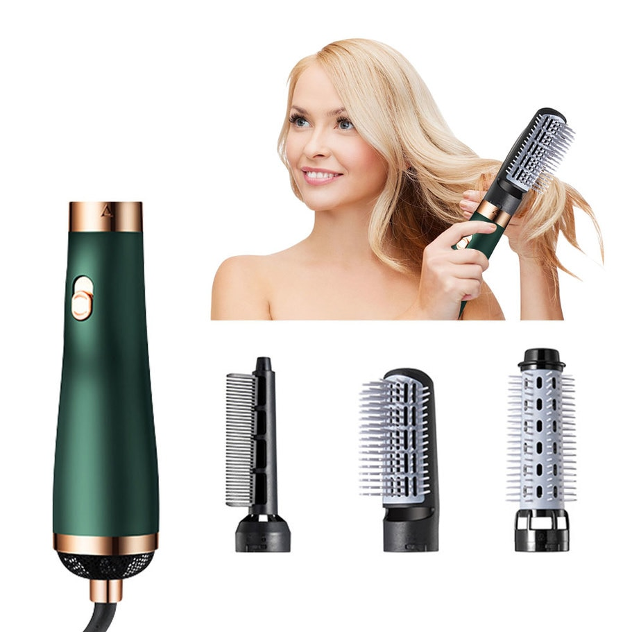 3 In 1 Hair Comb Hair Hot-Air Brushes  with Hair Dryer Hair Straightener Hair Curler  Paddle Styling Brush for Women Wholesale