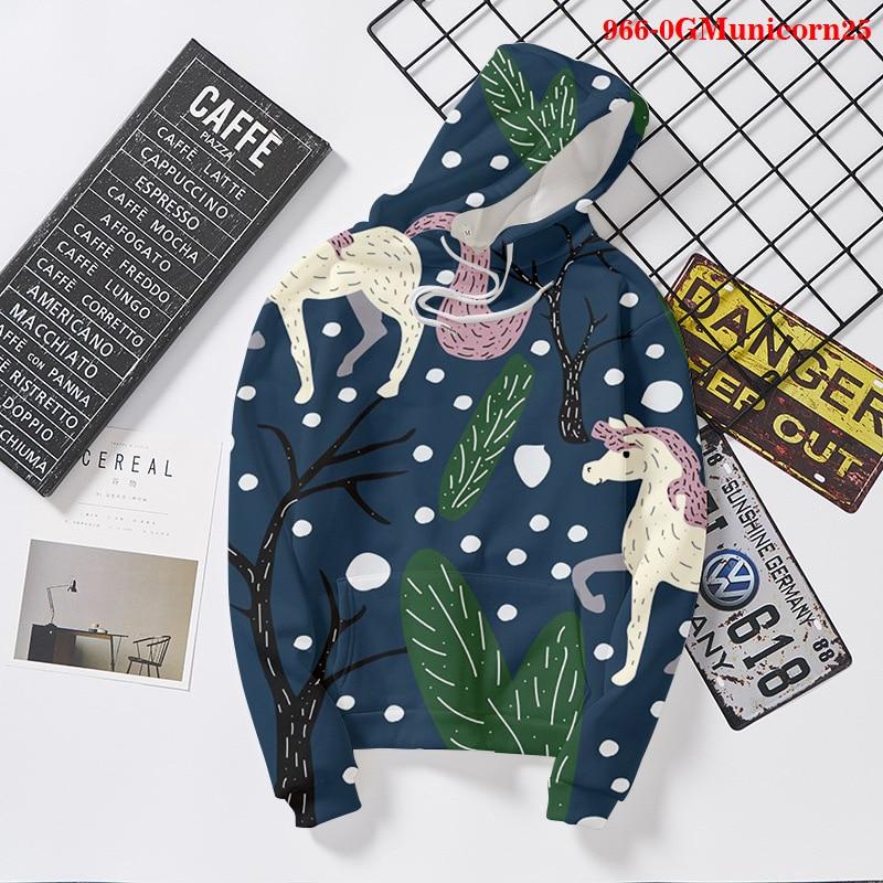 Толстовка с капюшоном с единорогом, винтажная Толстовка с длинным рукавом, толстовка, женская одежда 2021, модная Милая толстовка с единорого...