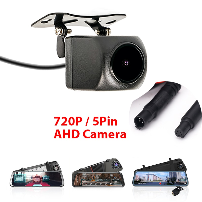720P AHD Car Rear View Camera with 5 pin for Car DVR Car Mirror Dashcam Waterproof 2.5mm Jack Rear C