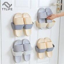 TTLIFE Настенный Липкий подвесной крючок для обуви Полка держатель для обуви горячий пластик полка для обуви Подставка для обуви Органайзер