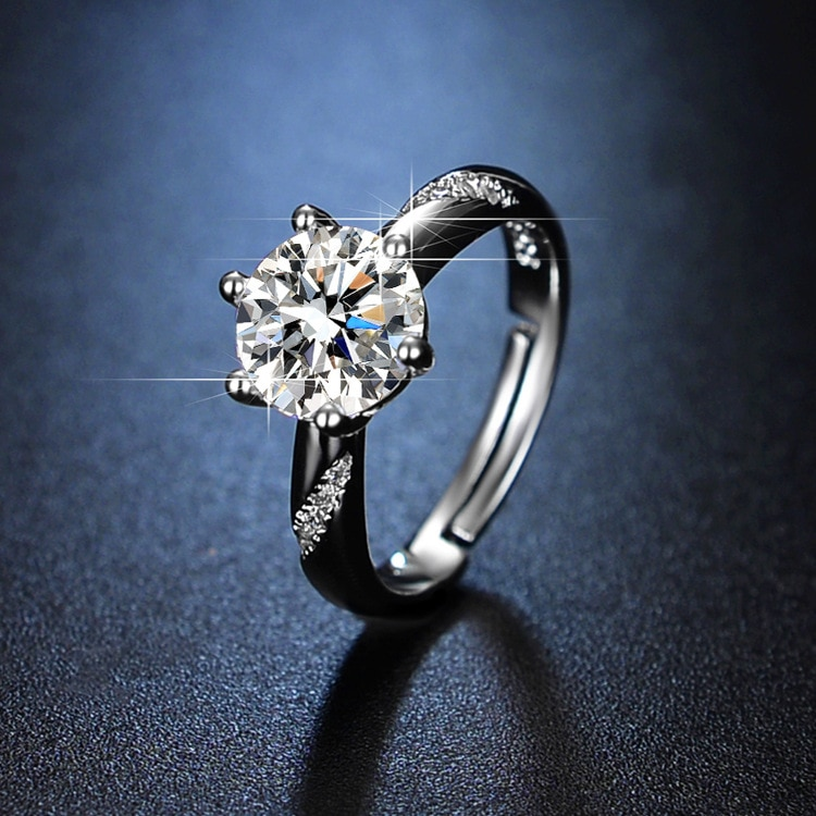 Sterling Silver Rings Silver Jewelry Sterling Silver 925 Rings for Women Resizable Rings Wedding Rings