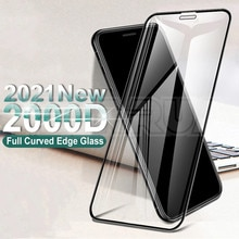 2000D Curved Protective Glass For iphone 6 6S 7 8 Plus SE Screen Protector on iphone X XR XS 11 12 P